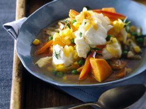 Gemüseeintopf mit Fisch Rezept