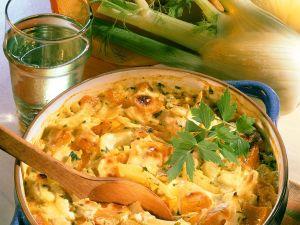 Gemüsegratin mit Kürbis und Fenchel Rezept