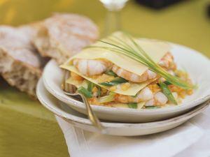 Gemüselasagne mit Garnelen Rezept