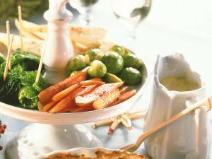 Gemüsemischung mit Holländischer Soße Rezept