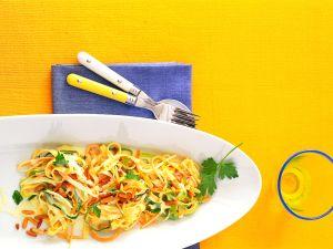 Gemüsenudeln in Gorgonzola-Sahne-Sauce Rezept