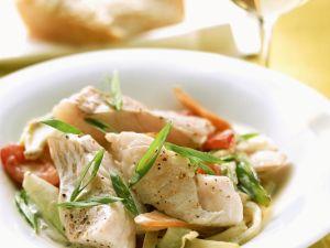 Gemüsepfanne mit Fischfilet Rezept