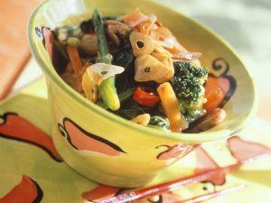 Gemüsepfanne mit Putenfleisch Rezept