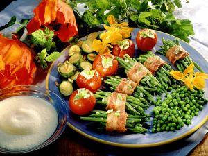 Gemüseplatte mit Sekt-Schaum Rezept