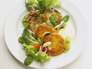 Gemüsepuffer mit Joghurtdip Rezept