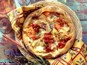 Gemüsequiche mit Roquefort Rezept