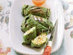 Gemüsereis im Bananenblatt Rezept