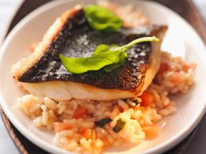 Gemüserisotto mit Fisch Rezept