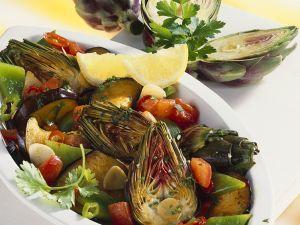 Gemüsesalat mit Artischocken Rezept