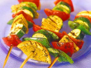 Gemüsespieße vom Grill Rezept