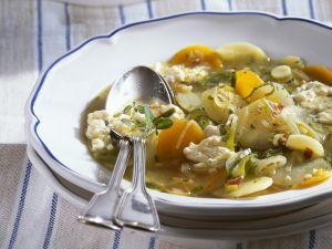 Gemüsesuppe mit Eierstich Rezept