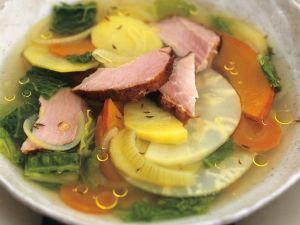 Gemüsesuppe mit Kassler Rezept
