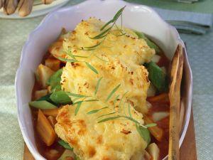 Gemüsetopf mit Käsepüree-Haube Rezept