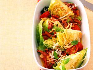 Geschmorter Wirsing mit Tomaten Rezept