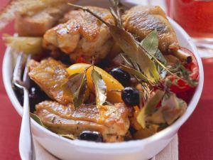 Geschmortes Huhn auf provenzalische Art Rezept