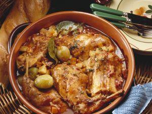 Geschmortes Kaninchen auf griechische Art Rezept