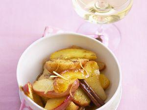 Geschwenkte Apfelspalten Rezept