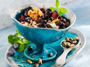 Gesunder Blaubeerquark mit Leinöl Rezept