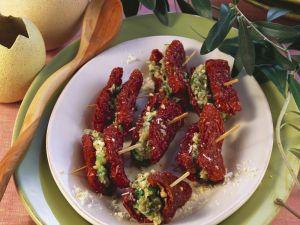 Getrocknete Tomaten mit Füllung Rezept