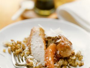 Glasierte Kaninchenrückenfilets mit Selleriegemüse Rezept