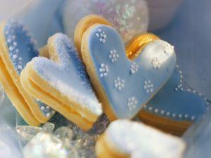 Blaue Herz-Plätzchen Rezept