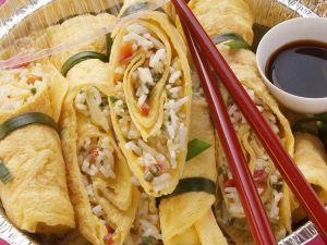 Glücksröllchen mit Reis gefüllt Rezept