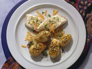 Goldbarsch mit Ofenkartoffeln Rezept