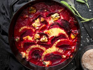 Gratinierte Rote Bete mit Ananas Rezept
