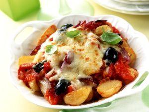 Gratiniertes Ratatouille mit Gemüse Rezept