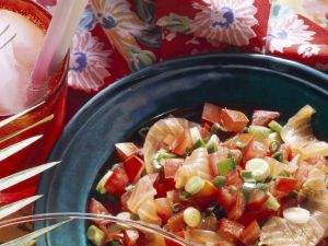 Graved Lachs mit Tomaten Rezept