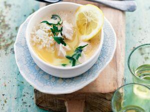 Griechische Zitronen-Reis-Suppe Rezept