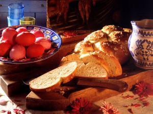 Griechischer Osterzopf (Tsourekia) Rezept