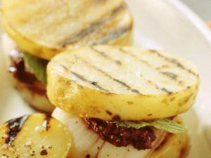 Grillkartoffeln mit Jakobsmuscheln Rezept