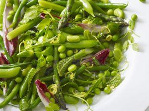 Grüner Erbsen-Bohnensalat Rezept