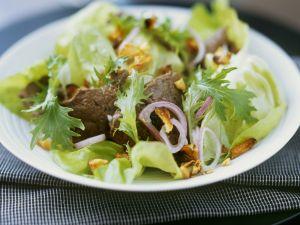 Grüner Salat mit Rind Rezept