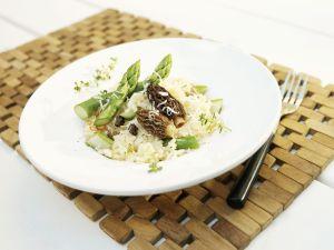 Grüner Spargel-Risotto mit Morcheln Rezept