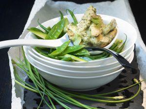 Grünes Curry auf thailändische Art mit Hähnchen Rezept
