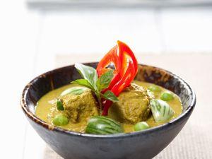 Grünes Geflügelcurry mit Thai-Auberginen Rezept