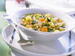 Grünkerneintopf mit Mangold und Kartoffeln Rezept