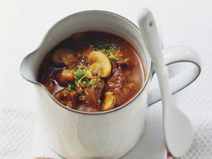 Gulasch-Pilz-Suppe Rezept