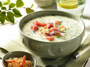 Gurken-Garnelen-Suppe Rezept