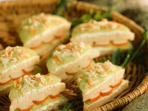 Gurken-Surimi-Sandwiches Rezept
