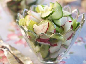 Gurkensalat mit Radieschen Rezept