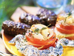 Hackbällchen und Tomaten vom Grill Rezept