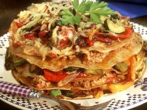 Hackfleisch-Pfannkuchen-Torte Rezept