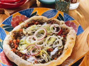 Hackfleisch-Pizza Rezept
