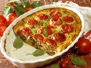 Hackfleisch-Tomaten-Kuchen Rezept