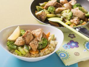 Hähnchen-Gemüse-Pfanne mit Couscous Rezept
