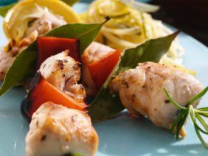 Hähnchen-Gemüse-Spieße vom Grill Rezept