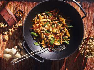 Hähnchen-Gemüse-Wok Rezept